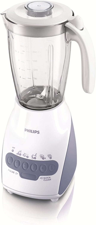 Philips HR2115/01 - Licuadora (2 L, Batidora de vaso, Blanco, 0,85 ...