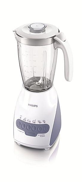 Philips HR2115/01 - Licuadora (2 L, Batidora de vaso, Blanco, 0,85 m, De plástico, Polipropileno): Amazon.es: Hogar