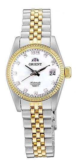 Orient «President» NR16002W - Reloj automático para mujer, de estilo clásico en dos tonos, dorado, con cristal de zafiro: Amazon.es: Relojes