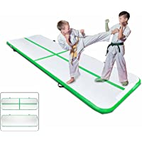 Popsport 9.84ft/19.68ft/26.24ft/29.5ft/32.8ft/ Air Track Inflatable Gymnastics Tumbling Air Track Mat Air Floor Mat for Cheerleading/Practice Gymnastics/Beach/Park/Home Use (Mint Green, 29.5ft)