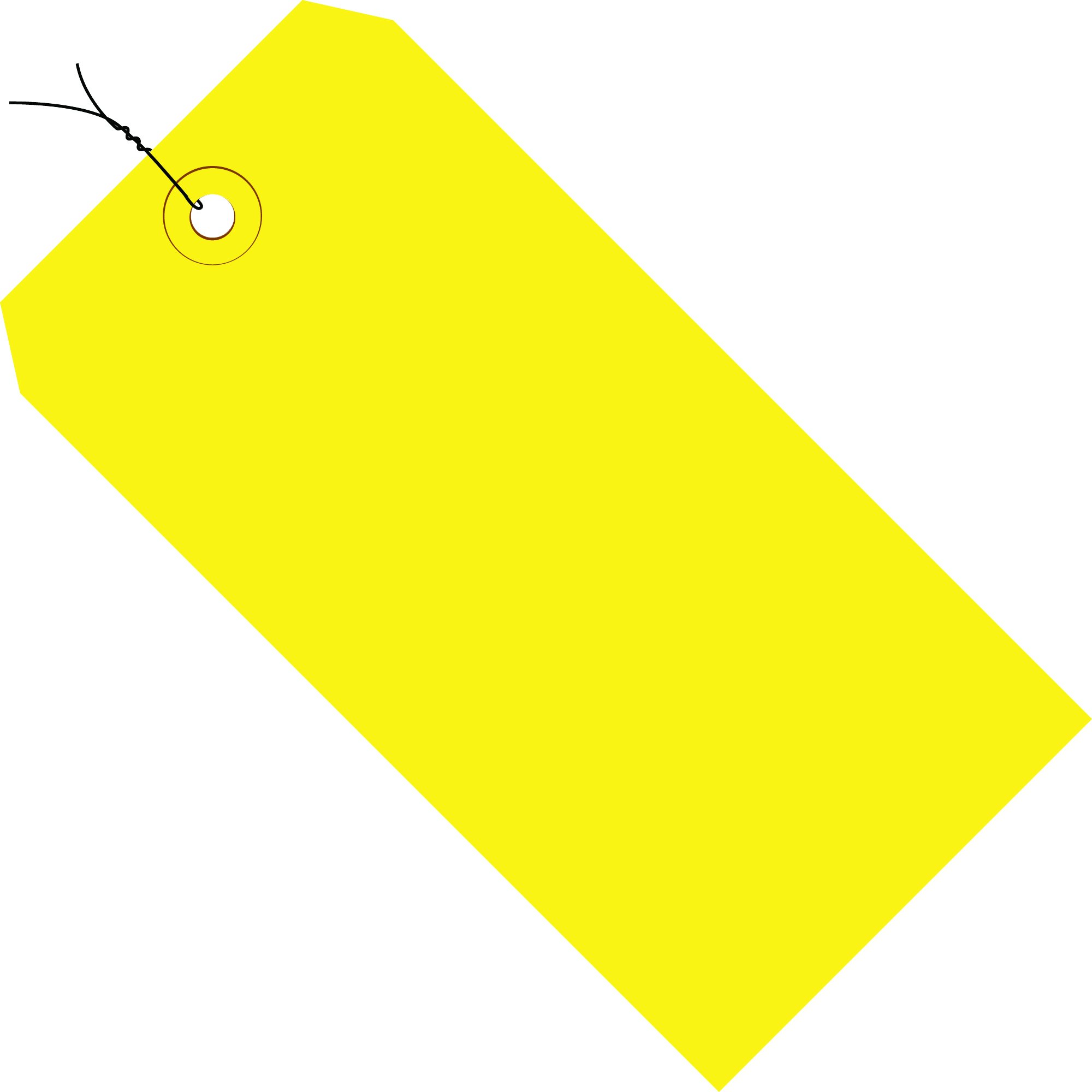 Tape Logic TLG11043C Shipping Tags, Pre-Wired, 13 Point, 4 1/4'' x 2 1/8'', Yellow (Pack of 1000)