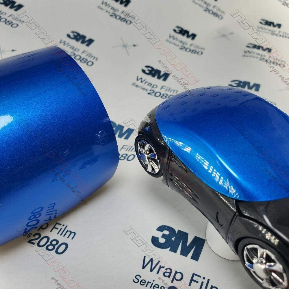 3m 1080 Gloss Blue Fire G337 Vinyl Car Wrap Film Sample 3in X 5in Auto
