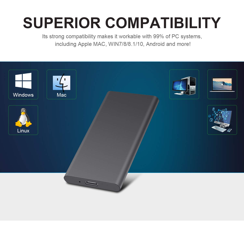 Xbox 2tb, Oro MacBook Chromebook Mac Disco Duro Externo 2tb Type C USB 3.1 Disco Duro Externo para PC