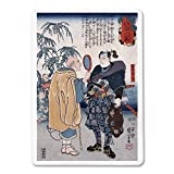 Samurai Miyamoto Musashi - Japanese Wood-Cut (Playing Card Deck - 52 Card Poker Size with Jokers)