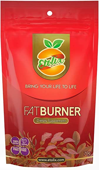 Etolix Fat Burner 70 gr. 07 Doses 33.8 Ounces Concentrated Weight Loss 100 Natural Made in U.S.A Caffeine and Gluten Free Non-GMO Free of Added sugars