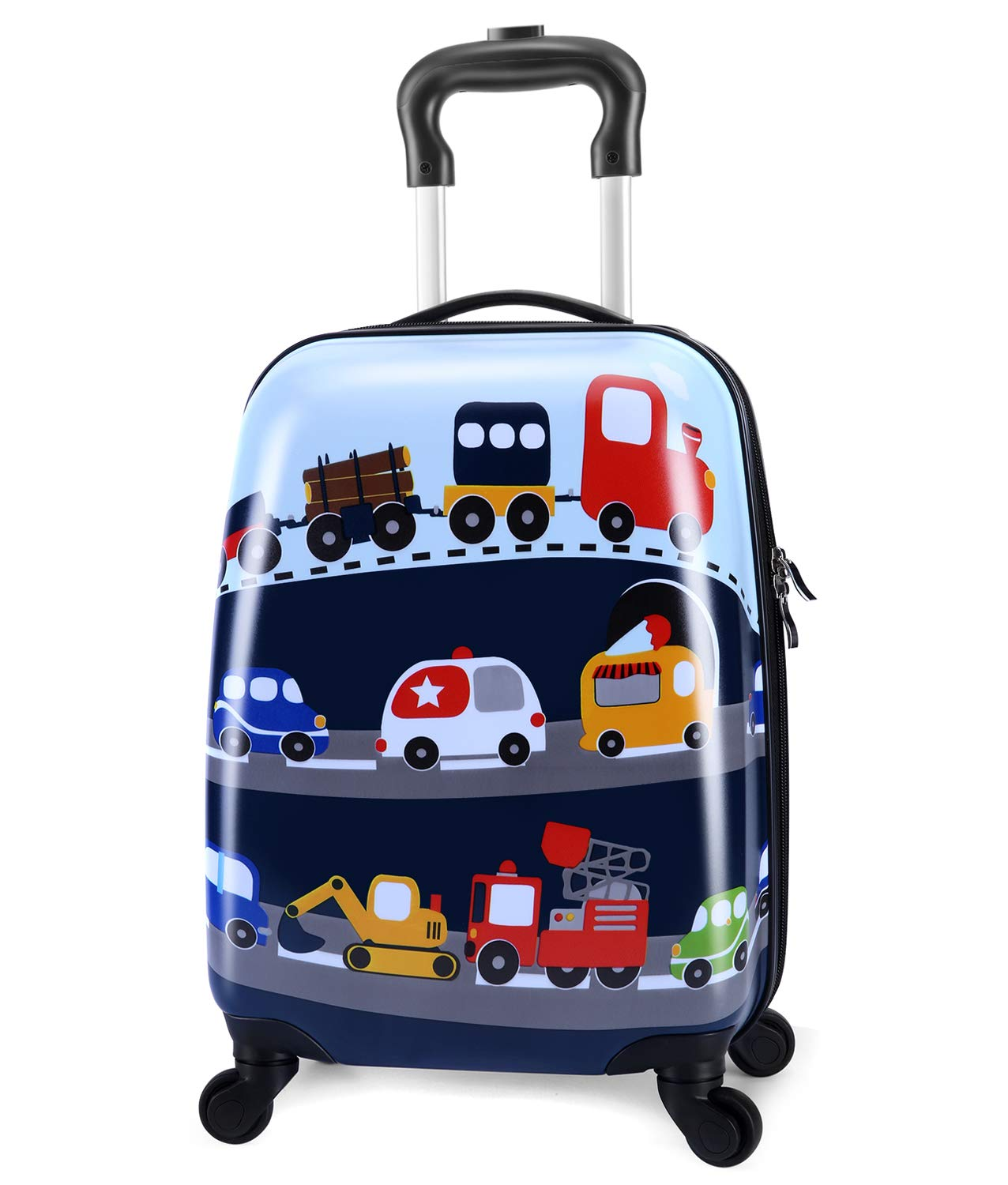 Lttxin cute kids suitcase pull along girls travelling with 4 wheel hard shell 16 inch owl LK-luggage-kids-001