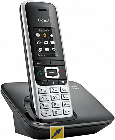 Gigaset S850A GO - Teléfono IP (Negro, Platino, Terminal inalámbrico, Tono/Pulso, 55 min, Botones, Escritorio/Pared): Amazon.es: Informática