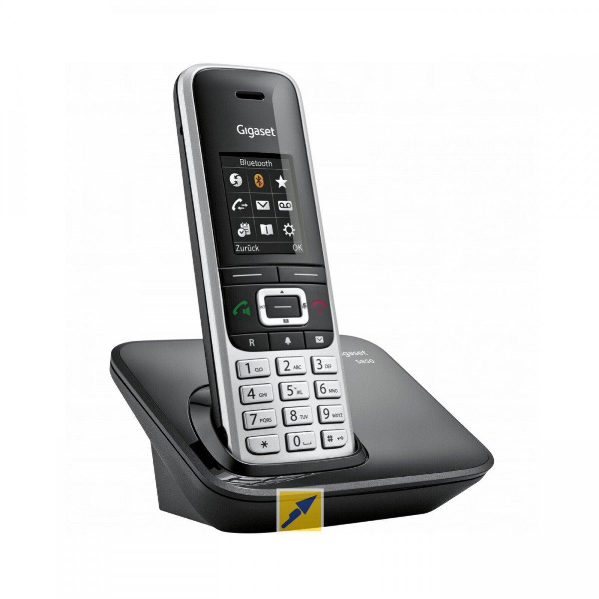 Gigaset S850A GO Té lé phone sans Fil/té lé phone VoIP - ré pondeur - Interface Bluetooth avec Affichage du numé ro de Appel - DECT\Gap - 2 Lignes S30852-H2625-C101