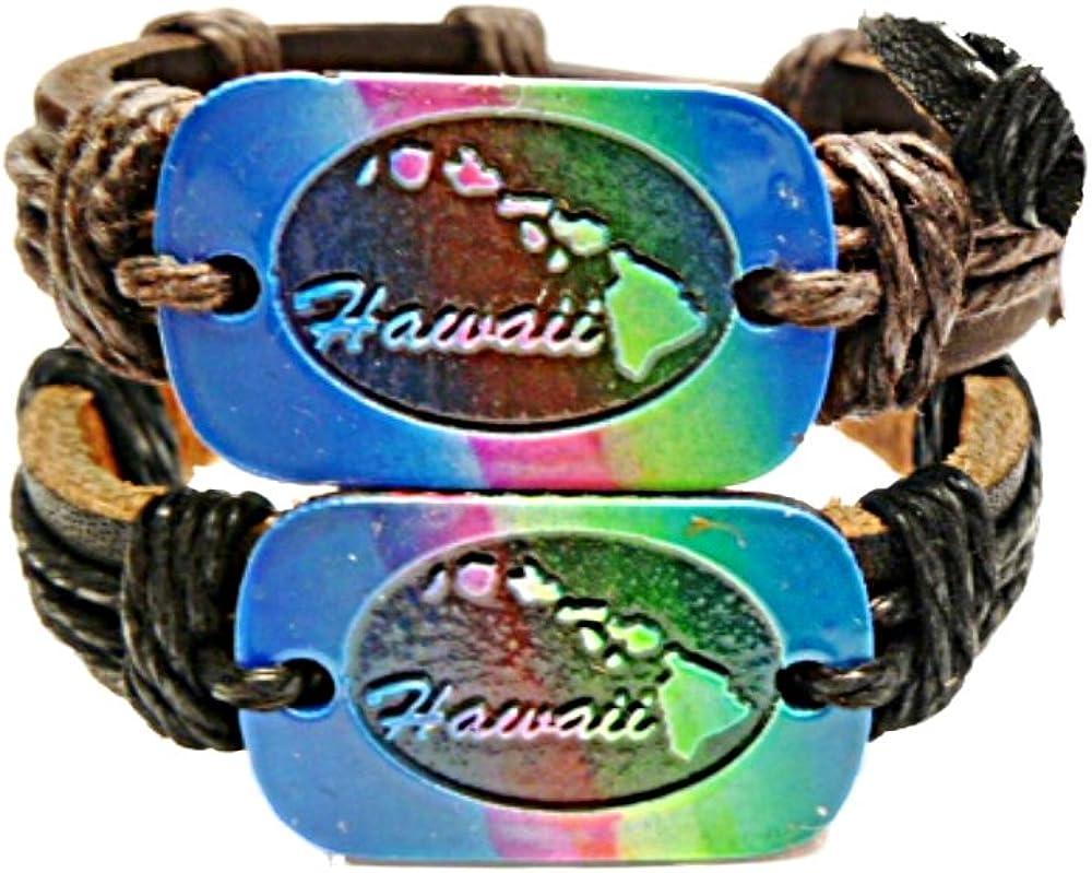 Lot 3PCS Surfer Leather Hemp Handmade Friendship Bracelet Wristband Adjustable