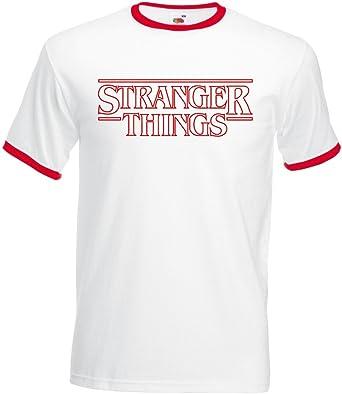 Fruit Camiseta Stranger Things Vintage Ringer Premium Algodon Calidad 170grs: Amazon.es: Ropa y accesorios
