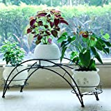AIDELAI flower rack Pastoral Creative Metal Flower Racks Indoor And Outdoor Living Room Balcony Decoration 3 Layers Flower Pot Rack Patio Garden Pergolas (Color : #1)