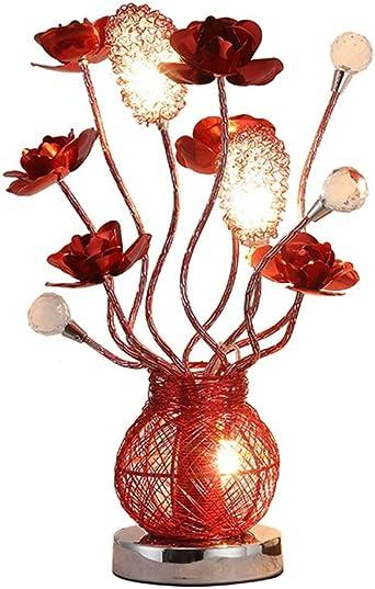 Lámparas de escritorio Lámpara de mesa de cristal de aluminio ...