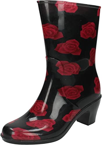 Ladies Spot On Rose Print *Wellington*