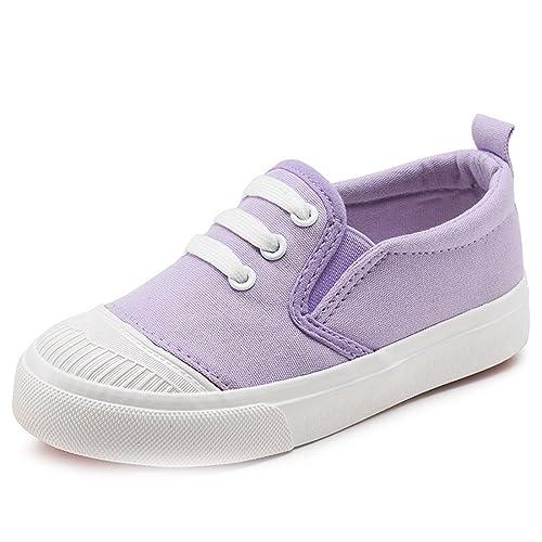 Bambino Colore Bambini Piccolo Moda Sneaker Tela Scarpe Caramella EDIbHeW92Y