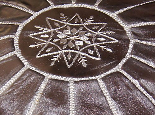 Moroccan Poof, Leather, Silver by Moroccan Poofs (Image #1)