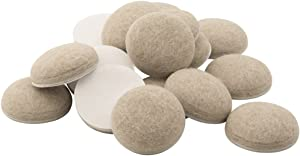 SoftTouch 4715695N Extended Wear Self Stick Felt Furniture Pads for Hard and Uneven Surfaces, 1-1/2 Inch, Linen, 16 Piece