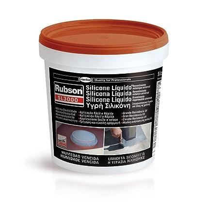 henkel 1449360 SL3000 Rubson, Silicone Liquido, 1 Kg, Terracotta Gris y blanco