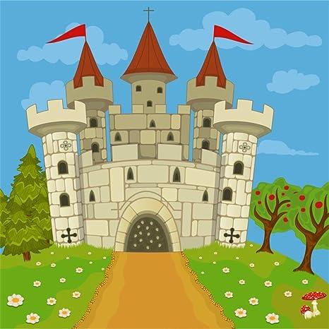 EdCott 5x5ft Dibujos Castillo Medieval Telón Niños Cuento ...