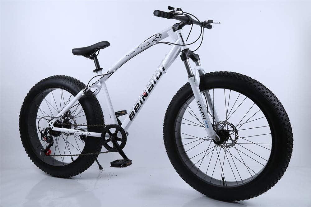 26 Zoll Fat Bike 4.0 Fat Tire Beach Bike kmart Schneemobil 7 Gang Mountainbike 27 G/änge 21 Gang Beach Bike 24 Gang Fat Bike Variable Geschwindigkeit