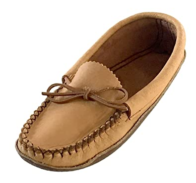 0427938a5 Bastien Industries Women's Earthing Grounding Natural Moosehide Leather  with Heavy Oil Tan Sole Moccasins (5