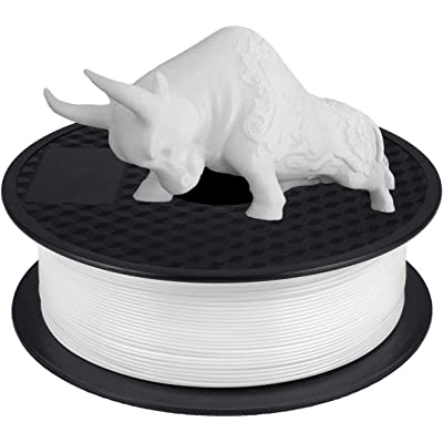 Filamento PLA 1.75 mm, GIANTARM Impresora 3D PLA Filamento 1kg Spool, Blanco