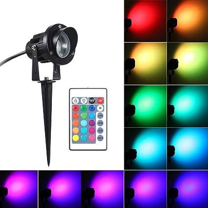 Lixada CA 85-265V Proyector LED RGB Impermeable IP66 Control ...