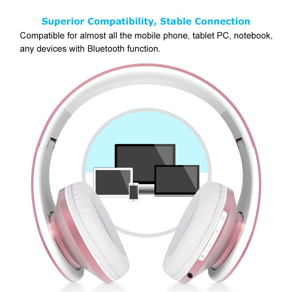 Ifecco Bluetooth Headphones 4 In 1 Upgrade Samsung Headphone Cable Wiring Diagram Foldable Over Ear Headsets With Micro Support Sd Tf Card For Enabled Devices