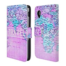 Head Case Designs Wanderlust Statements Leather Book Wallet Case Cover for LG Phones 1
