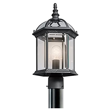 Amazon kichler 49187bk barrie outdoor post mount 1 light kichler 49187bk barrie outdoor post mount 1 light black aloadofball Gallery