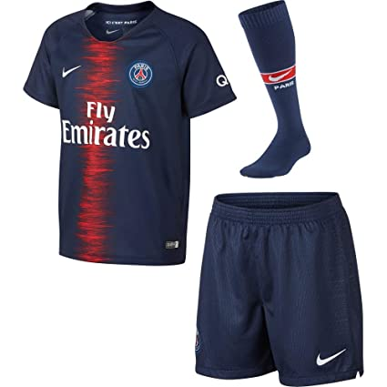 NIKE 2018-2019 PSG Home Little Boys Mini Kit