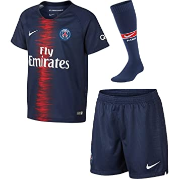 Amazon.com  Nike 2018 19 Paris Saint-Germain Stadium Home Younger ... 8f2079206