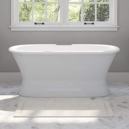 60″ Cast Iron Double Ended Pedestal Tub