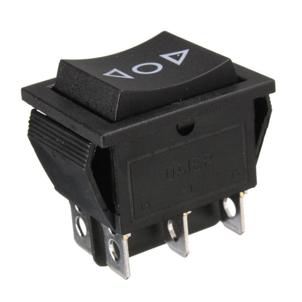 D DOLITY 6 Terminali 3 posizioni ON/OFF / ON DPDT Interruttore a Bilanciere 250V/10A 125V/15A di Auto