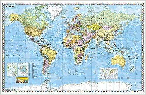 Weltkarte Deutsch Kleinformat Amazon De Stiefel Eurocart Bucher