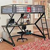Parkview Full Workstation Loft Bed Black