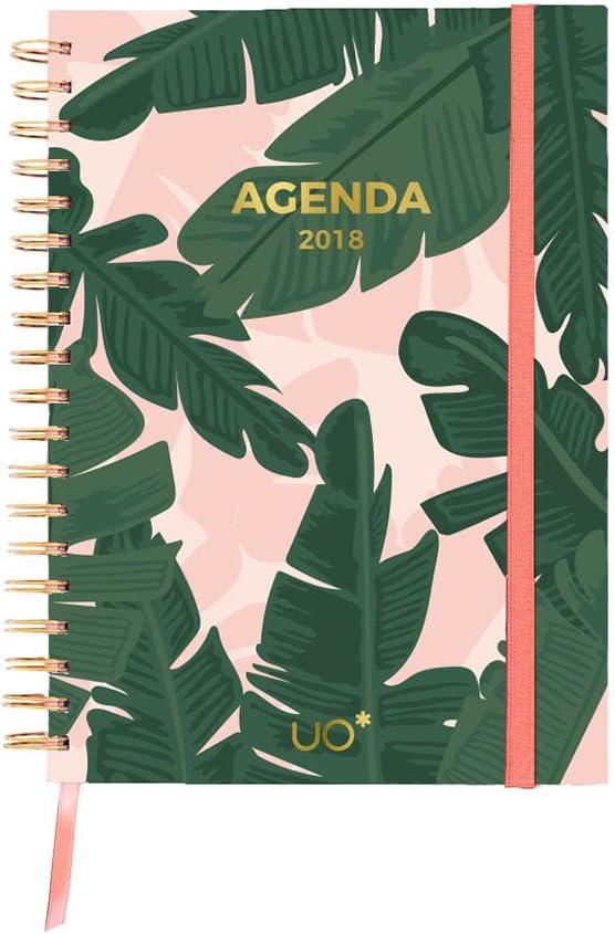 UO AG18ET - Agenda 2018 con diseño Tropical: Amazon.es: Oficina y papelería