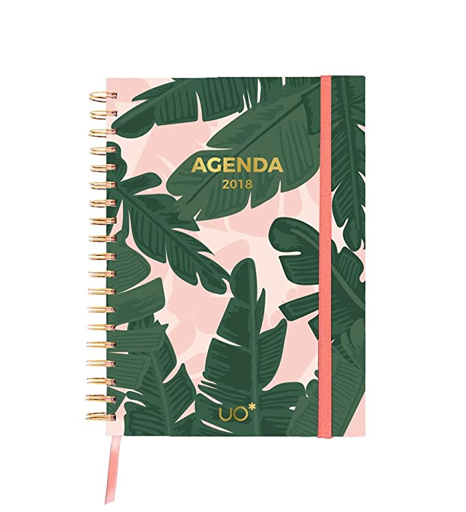 UO KTAG18ET2 - Kit agenda 2018 con diseño Tropical, stickers ...