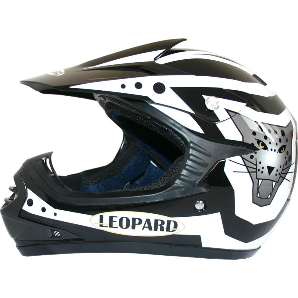 - Casque de Moto de Bicyclette ATV ECE 22-05 Approbation Leopard LEO-X17 Casques Motocross /& Gants denfants /& Lunettes pour Enfants 53-54cm Jaune L