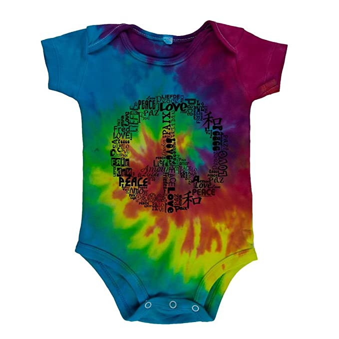 Amazon Love And Peace Sign Soft Baby One Piece Clothing