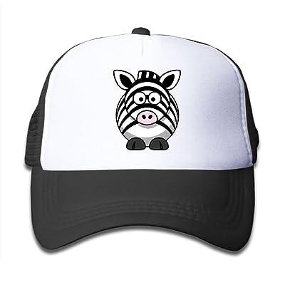 Cartoon Zebra Cow Mesh Caps Adjustable Plain Baseball Hat For Teens