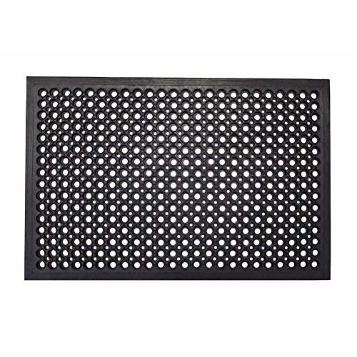Lovinland Rubber Floor Mat Drainage Anti Fatigue Mat 60 x 35 Inch Heavy Duty Non-Slip Mat for Resturant Kitchen Bar Garage Garden Indoor Outdoor Industral Use (Use Rubber)