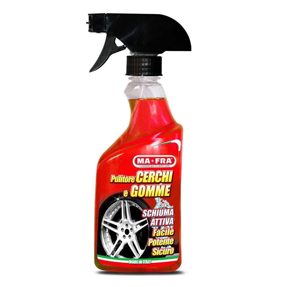 HT MAFRA PULITORE Spray Schiuma Cerchi GOMME pulisce Lucida Protegge Lava Auto Moto MA fra