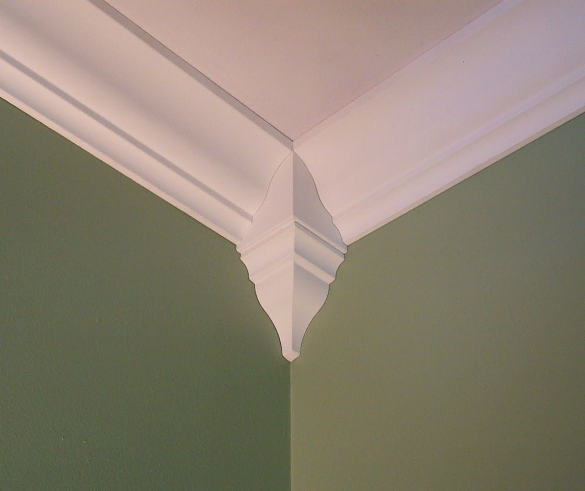 Amazon.com: Package of 4 Crown Molding Corner Inside Block Fits 4 ...