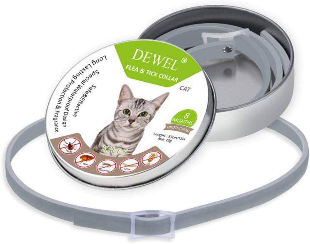 Womdee Collar para pulgas y garrapatas para Gatos, Resistente al Agua y Ajustable, para Perros y Gatos, fórmula Natural, protección Duradera de 8 Meses, 13.5 Pulgadas: Amazon.es: Productos para mascotas