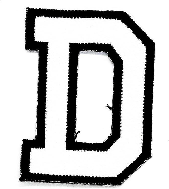 Parche con la letra D de Rabana, diseño de alfabeto inglés, parche ...