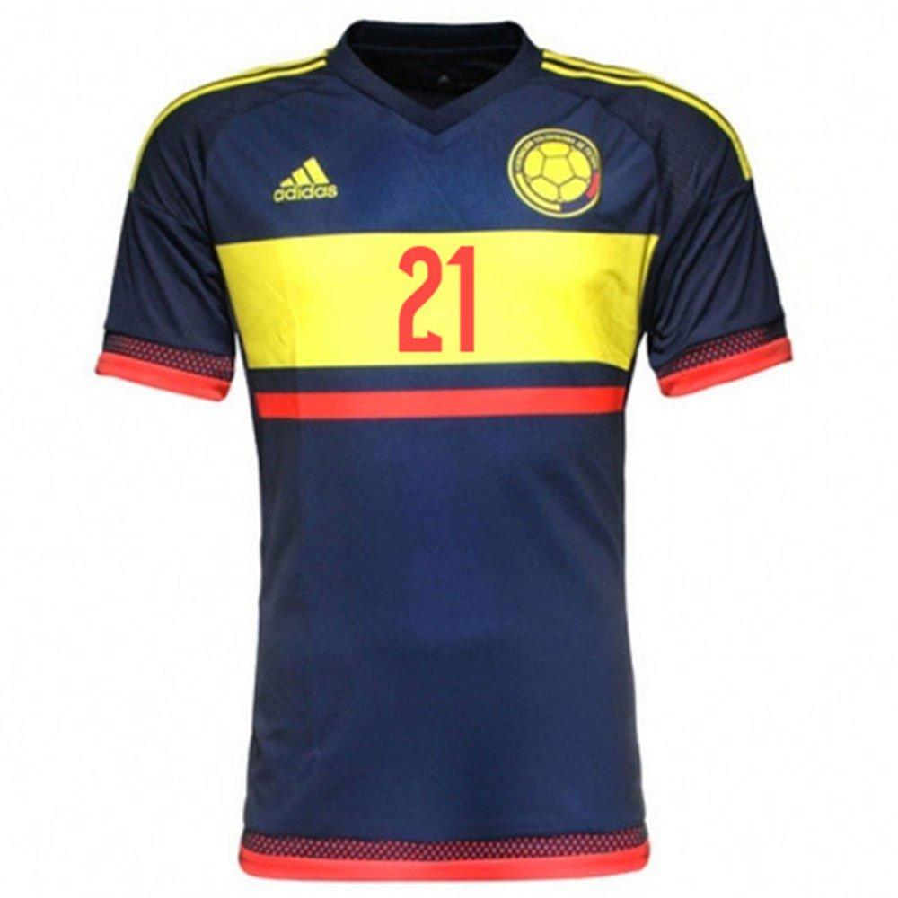 Adidas Jackson .M #21 Camiseta 2da Colombia Hombres Fútbol 2015 (M): Amazon.es: Deportes y aire libre
