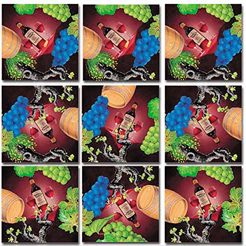 B Dazzle Vin Vino Wein Wine Scramble Squares 9 Piece Puzzle (Vino Original Art)