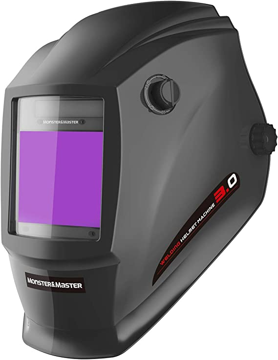 Monster&Master Large Viewing Screen Auto Darkening Welding Helmet