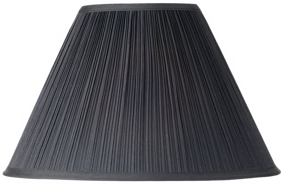 Black Mushroom Pleated Lamp Shade 7x17 x11.5 (Spider)