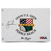 $1259 » Tiger Woods Autographed & Embroidered 2000 U.S. Open Pin Flag LE 500 - Upper Deck Certified - Autographed Golf Pin Flags